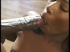 Темнокожую самку трахают а анал